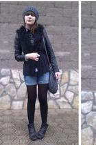 black Concept club jacket - black Zara vest - gray Topman hat