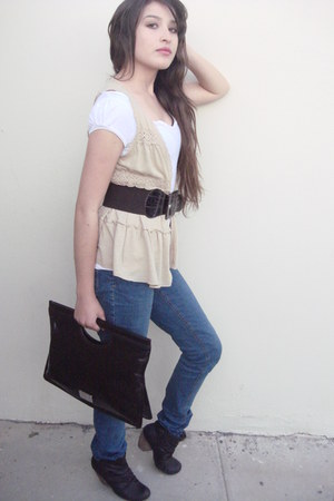 boots - Levis jeans - Nine West bag - Forever 21 cardigan