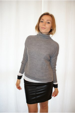 charcoal gray Zara cardigan