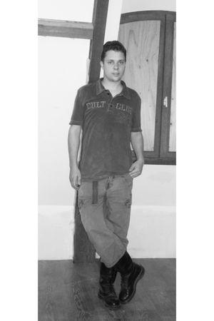 doc martens boots - Tibet shorts - Esprit t-shirt
