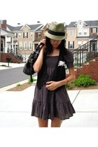 Old Navy vest - forever 21 dress - Urban Outfitters hat - cynthia rowley purse