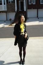 forever 21 jacket - vintage scarf - vintage belt - forever 21 skirt
