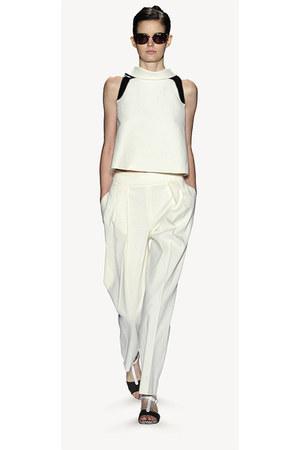 white Carolina Herrera blouse