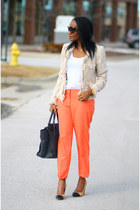 Jcrew pants - McGinn jacket - Celine bag - Zara pumps