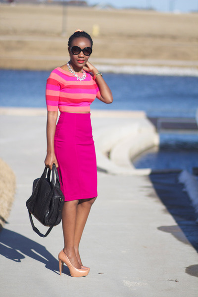 Express skirt - f21 sweater - Alexander Wang bag - Prada sunglasses
