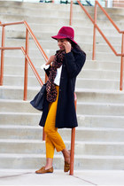 E-Hats hat - marvin richards coat - Theodora & Callum scarf - Celine bag