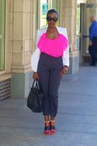 Zara sandals - asos blazer - Celine bag - Forever 21 pants
