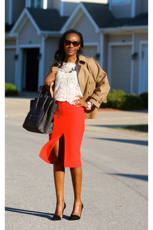 versace skirt - Celine bag - Zara pumps - Stella McCartney cape