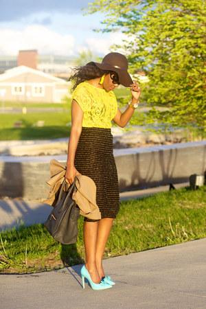 asos skirt - asos shoes - Celine bag - Zara top