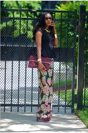 Zara pants - Kurt Geiger bag - asos top - Miu Miu heels