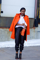 vince shirt - Givenchy boots - asos coat - Zara bag - vince pants
