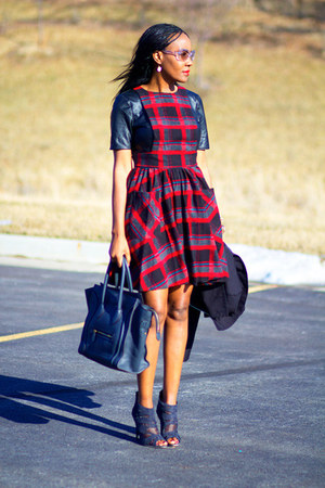 Celine bag - asos dress - loeffler & Randall pumps