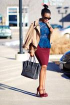 Zara top - Celine bag - Miu Miu heels - Forever 21 skirt - Stella McCartney cape
