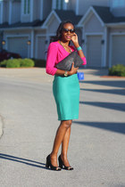 J Crew skirt - asos blouse - missoni for target pumps