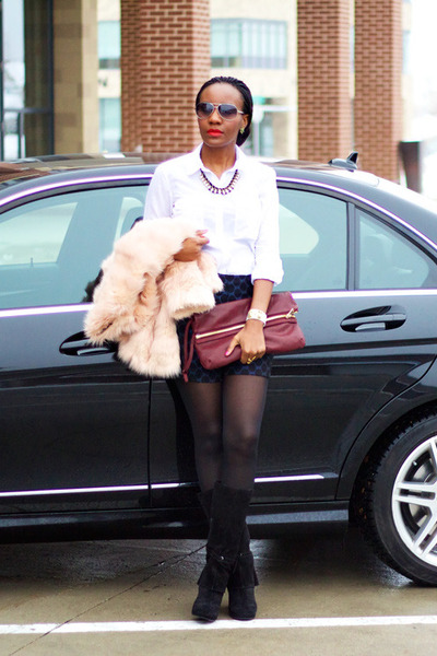 asos shorts - Loft shirt - Kurt Geiger bag - Tom Ford sunglasses