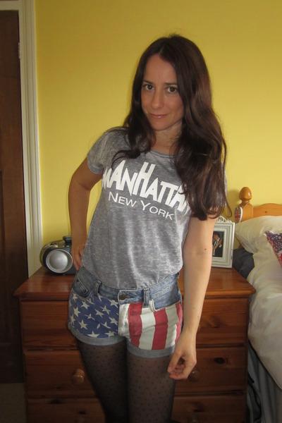 Topshop shorts - Topshop t-shirt