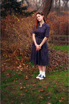 blue Cheesecakevintage on etsy dress - white payless shoes - blue Forever 21 bel