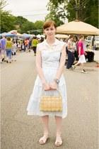 vintage dress - vintage purse - vintage blouse - lulus sandals