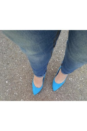 stiletto blue H&M pumps