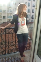 t-shirt - H&M blazer - H&M jeans - Bata shoes