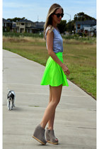 Neon Twirl Skirt skirt - SXCU sunglasses - cotton on t-shirt