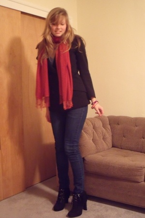 mother scarf - Zara - vintage from Wasteland blazer - Cheap Monday jeans