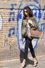 Dark-green-prada-jacket-carrot-orange-celine-bag-black-zara-pants