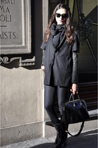 black antigona Givenchy bag - charcoal gray t by alexander wang top