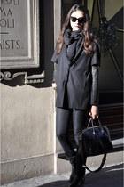 black antigona Givenchy bag - charcoal gray t by alexander wang top