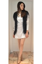 white Givenchy dress - teal Ermano Scervino vest