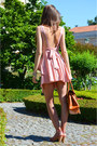 Light-pink-chiffon-romwe-dress-bronze-cork-romwe-bag-salmon-rutz-sandals