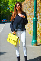 yellow Dorothy Perkins bag - black Ray Ban sunglasses
