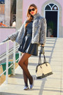 Heather-gray-faux-fur-primark-coat-black-leather-parker-skirt
