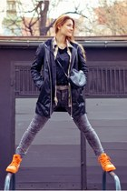 carrot orange Palladium Boots boots - black Saska Fashion coat