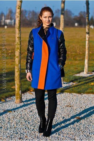 Saska Fashion coat - Stradivarius jeans - Saska Fashion top - deezee heels