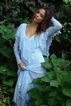 blue 1960s vintage dress