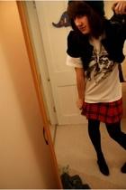 Zara jacket - Sisley skirt - Camden Market t-shirt