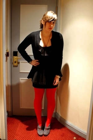Miss Selfridges dress - Primark tights