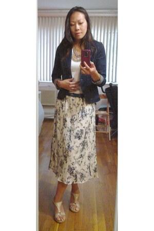 floral skirt Cupio skirt - navy denim Esprit blazer
