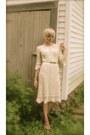 Crochet-nicole-miller-dress-american-apparell-socks-gold-belt