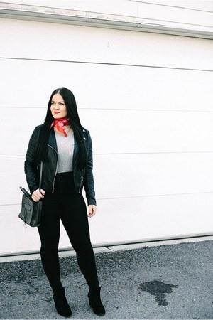 rag & bone boots - Forever 21 jacket - Rebecca Minkoff bag - asos bodysuit
