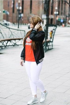 Adidas shirt - Forever 21 jacket - venus pants - Reebok sneakers