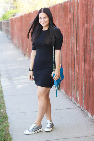 Topshop dress - Rebecca Minkoff bag - Converse sneakers