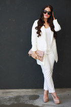 nastygal blazer - Clare V purse - house of harlow sunglasses - Express pants