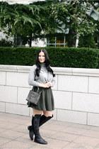 Forever 21 sweater - Rebecca Minkoff bag - Forever 21 skirt