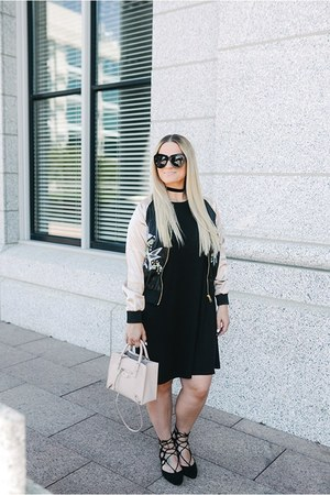 asos jacket - asos dress - balenciaga purse - Karen Walker sunglasses