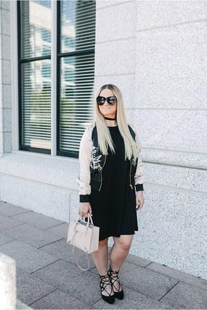 asos jacket - asos dress - balenciaga purse - Karen Walker sunglasses