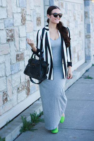 Zara blazer - balenciaga purse - house of harlow sunglasses