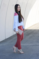 Thakoon addition blouse - Clare Vivier purse - H&M pants