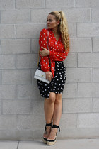 H&M skirt - Marc Jacobs bag - Christian Louboutin wedges - H&M blouse